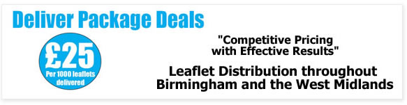 Flyer delivery Service Birmingham West Midlands